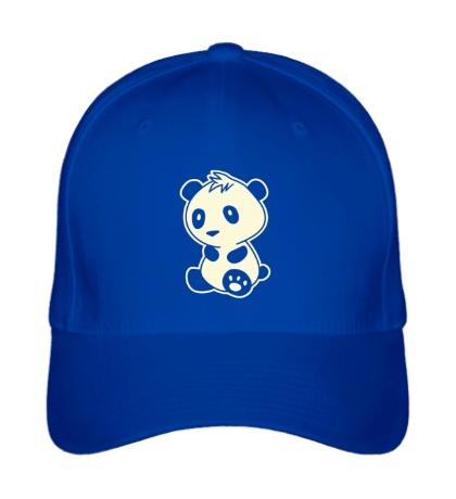 Бейсболка Маленькая панда, свет