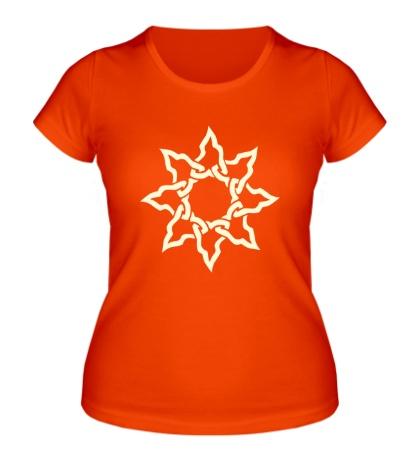 Женская футболка Кельтское солнце свет