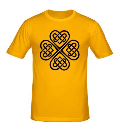Мужская футболка Клевер из кельтских узоров