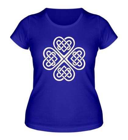 Женская футболка Клевер из кельтских узоров свет