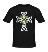 Мужская футболка Кельтский плетеный крест