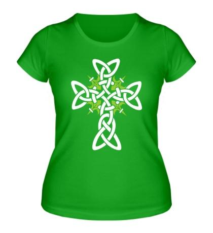 Женская футболка Кельтский плетеный крест