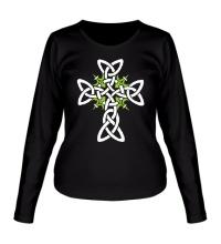 Женский лонгслив Кельтский плетеный крест