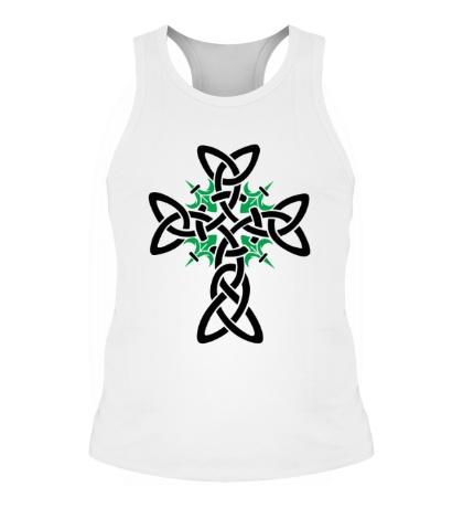 Мужская борцовка Кельтский плетеный крест
