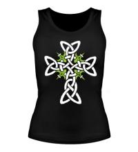 Женская майка Кельтский плетеный крест