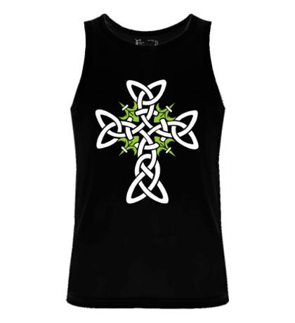 Мужская майка Кельтский плетеный крест