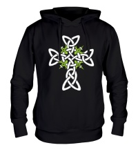 Толстовка с капюшоном Кельтский плетеный крест