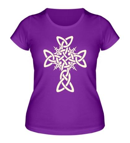 Женская футболка Кельтский плетеный крест, свет