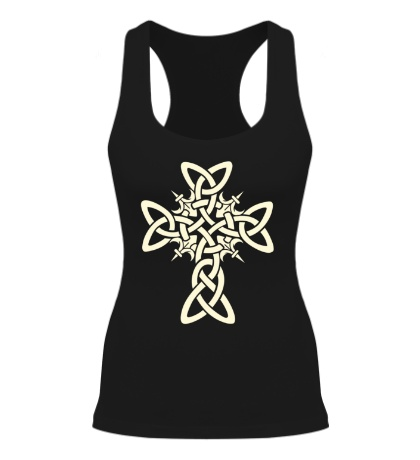 Женская борцовка Кельтский плетеный крест, свет
