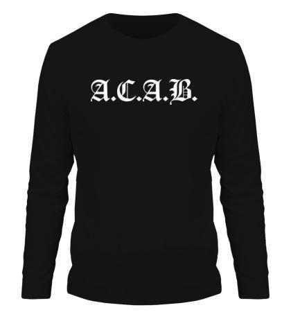 Мужской лонгслив A.C.A.B Fans