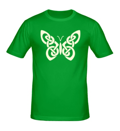 Мужская футболка Кельтская бабочка, свет