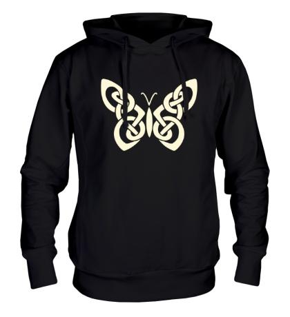Толстовка с капюшоном Кельтская бабочка, свет