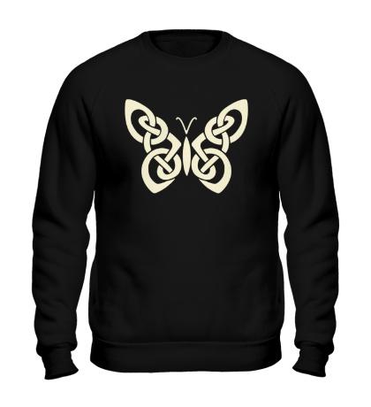 Свитшот Кельтская бабочка, свет