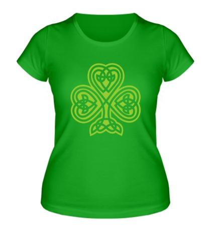 Женская футболка Кельтский клевер