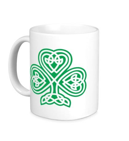 Керамическая кружка Кельтский клевер