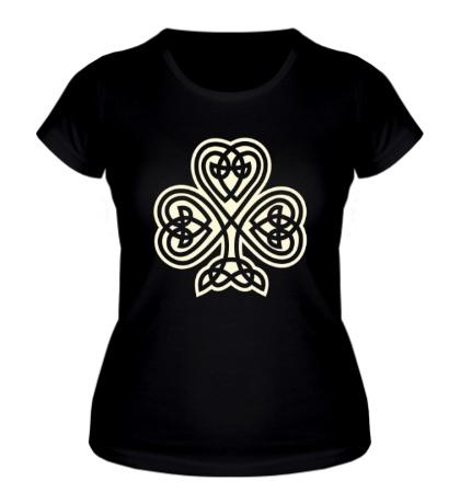 Женская футболка Кельтский клевер свет