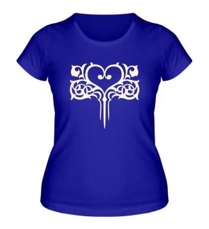 Женская футболка Узор в виде сердца
