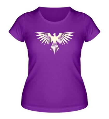 Женская футболка Величественная птица свет