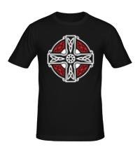 Мужская футболка Кельтский крест с узорами