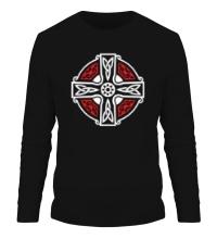 Мужской лонгслив Кельтский крест с узорами