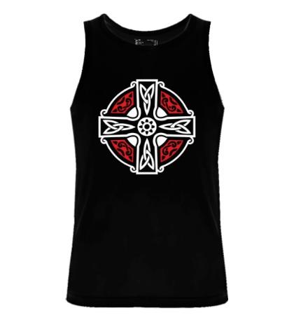 Мужская майка Кельтский крест с узорами