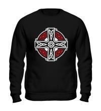 Свитшот Кельтский крест с узорами
