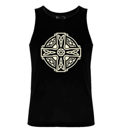 Мужская майка Кельтский крест с узорами свет