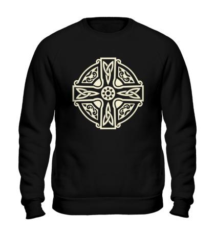 Свитшот Кельтский крест с узорами свет