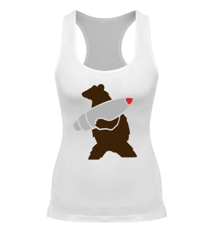 Женская борцовка Медведь с боеголовкой