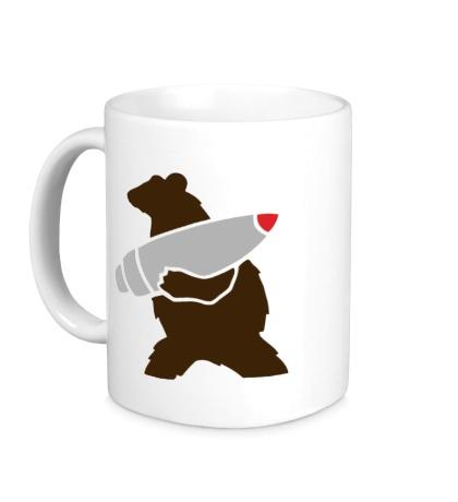 Керамическая кружка Медведь с боеголовкой