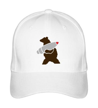 Бейсболка Медведь с боеголовкой