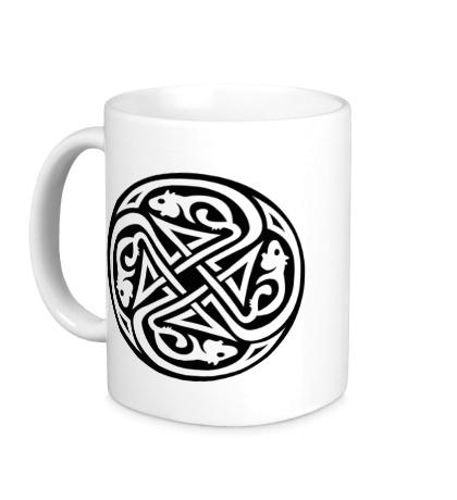 Керамическая кружка Кельтский круг крыс
