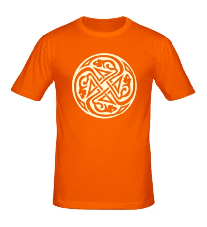 Мужская футболка Кельтский круг крыс, свет