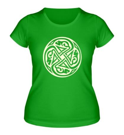 Женская футболка Кельтский круг крыс, свет