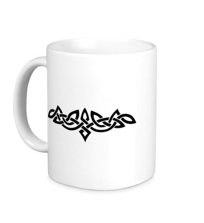 Керамическая кружка Тату: кельтский узор