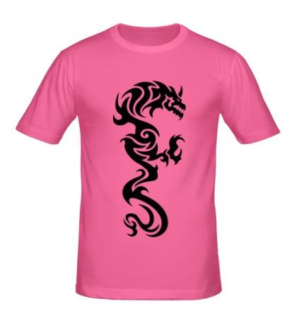 Мужская футболка Дракон: татуировка