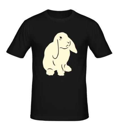 Мужская футболка Крольчонок свет
