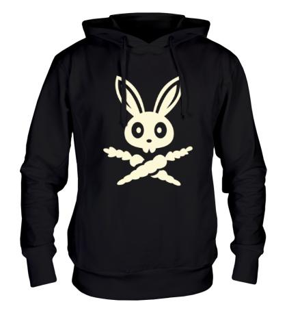 Толстовка с капюшоном Кролик-пират, свет