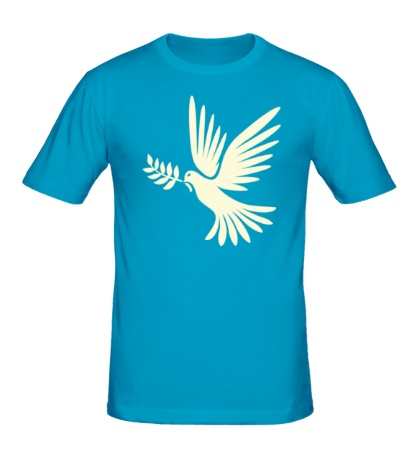 Мужская футболка Голубь мира, свет
