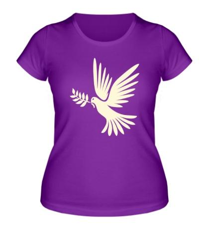 Женская футболка Голубь мира, свет