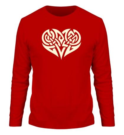 Мужской лонгслив Кельтские узоры в форме сердца свет