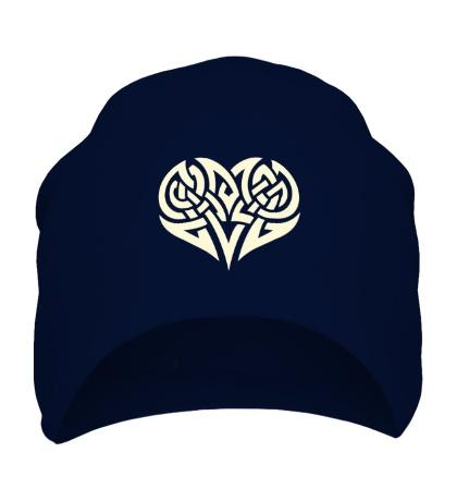 Шапка Кельтские узоры в форме сердца свет