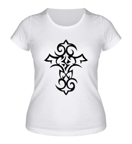 Женская футболка Тату-крест