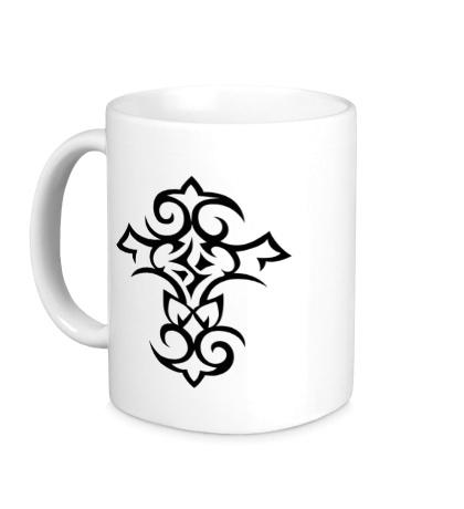 Керамическая кружка Тату-крест