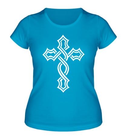 Женская футболка Татуированный крест