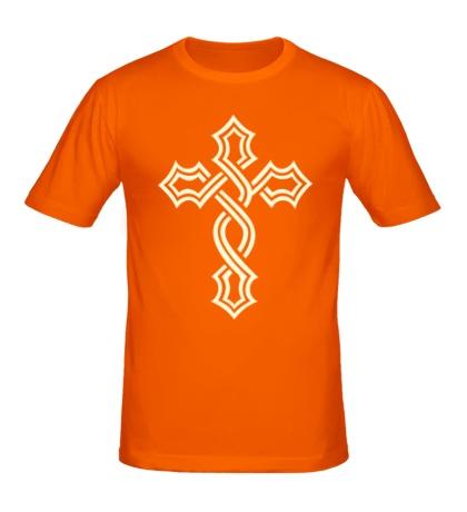 Мужская футболка Татуированный крест, свет