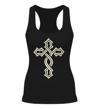 Женская борцовка Татуированный крест, свет