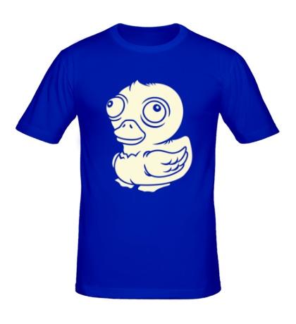 Мужская футболка Чокнутая утка, свет