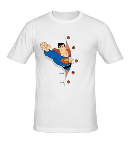 Мужская футболка Выглядывающий Супермен