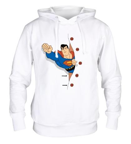 Толстовка с капюшоном Выглядывающий Супермен